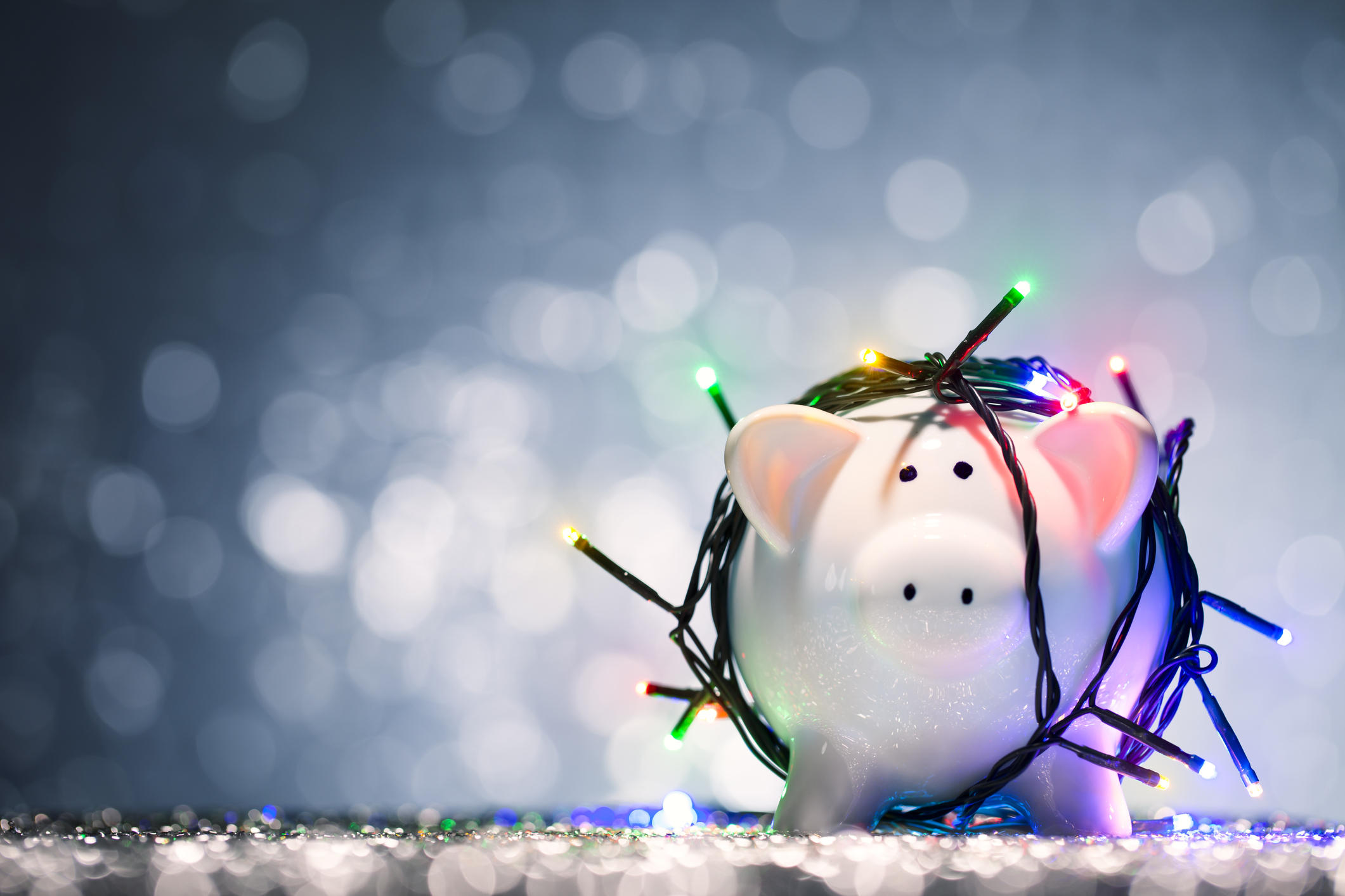 Christmas Lights Piggy Bank