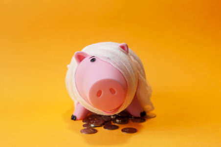 piggy bank financial mistake