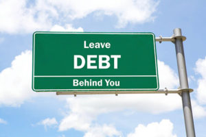 Leave debt behind you sign