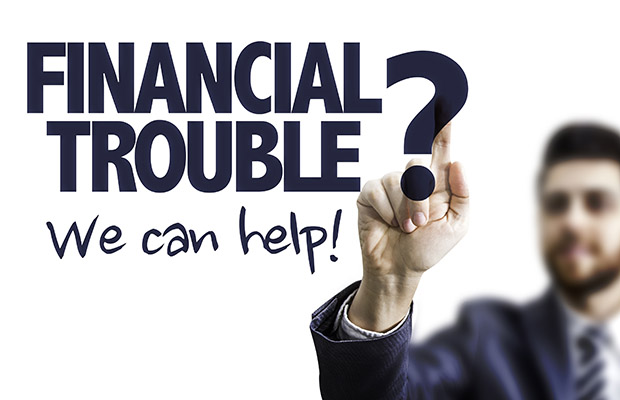 Financial trouble sign