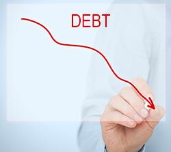 Debt reduction graph