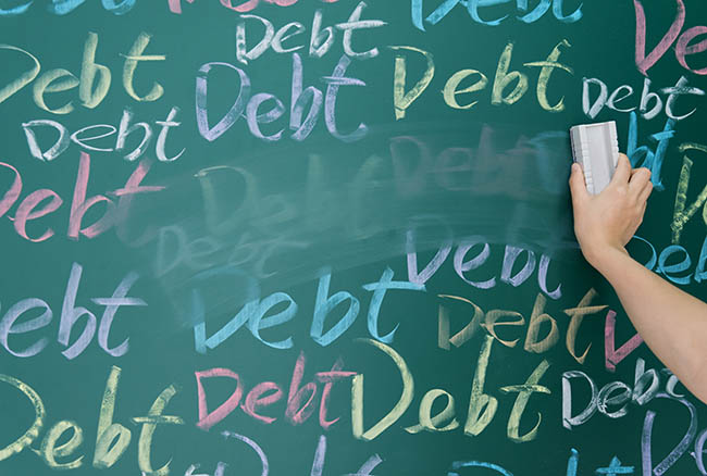 Erasing debt from board
