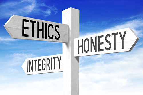 Value, Ethics, Honesty, Integrity