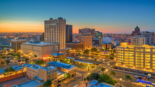 El Paso, Texas downtown skyline