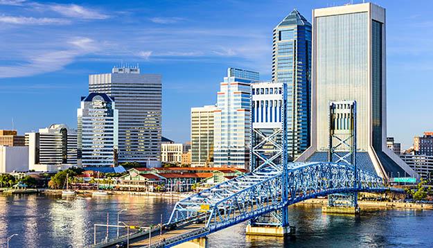 Jacksonville city skyline
