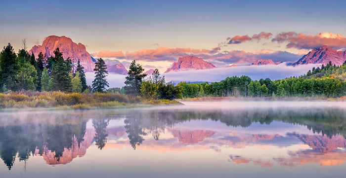 Snake River, Wyoming at sunrise